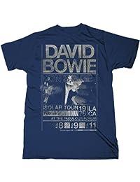 David Bowie - - Visite Hommes Isolar 1976 Slim Fit T-shirt dans la marine