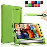 Yoga Tab 3 Pro/Yoga Tab 3 Plus 10 Funda Case, Infiland Folio PU Cuero Cascara Delgada con Soporte...