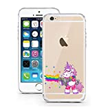 "licaso® Hülle für iPhone 6 6S 4,7"" TPU Einhorn Rambo Gangster Cool iPhone 6 Case transparent Sketch klare Einhörner Schutzhülle iphone6 Tasche iPhone 6 Hülle Comic Hülle Unicorn Cases (iPhone 6 6S 4,7"", Einhorn Rambo)"