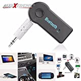 #10: AllExtreme Bluetooth Receiver, Portable Bluetooth 3.5mm Car Adapter & Bluetooth Car Aux Adapter for Music Streaming Sound System, Hands-free Audio Adapter & Wireless Car Kits for Home/Car Audio Stereo System (Black)
