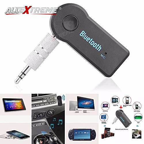 AllExtreme Bluetooth Receiver, Portable Bluetooth 3.5mm Car Adapter & Bluetooth Car Aux Adapter for Music Streaming Sound System, Hands-free Audio Adapter & Wireless Car Kits for Home/Car Audio Stereo System (Black)  available at amazon for Rs.285