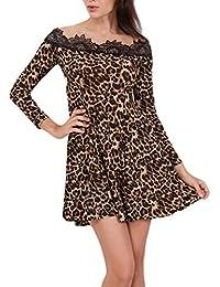 Vestiti donna di Sunshine   Mini abito stampa pizzo leopardato Benda Abito  Da ea98e7963ff