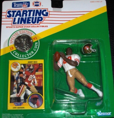 1991 NFL Starting Lineup JERRY RICE San Francisco 49ers by Kenner