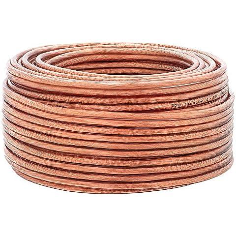 2,5mm² | anillo de 20m | DCSK HiFi Cable para altavoces | 99,99% OFC cobre puro | transparente |
