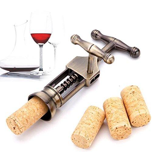 Amaoma Wein Flaschenöffner Multifunktionale Grade Zink-Legierung Bronze Korkenzieher All-in-One-Wein-Öffner, Best Bar Weinzubehör und Geschenke 19cm*7.5cm