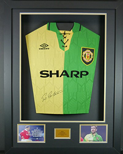 Cantona Signed Manchester United Shirt 3D Framed Display with COA