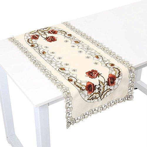 Tischband aus Polyester Abriebfest, Hitzebeständig und Anti-Falten für Party, Urlaub, Restaurant, Cafés, Besondere Anlässe,40 x 85 cm(Rechteck) ()