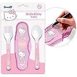 Hello Kitty–Set di posate da viaggio/in movimento (forcella & cucchiaio)