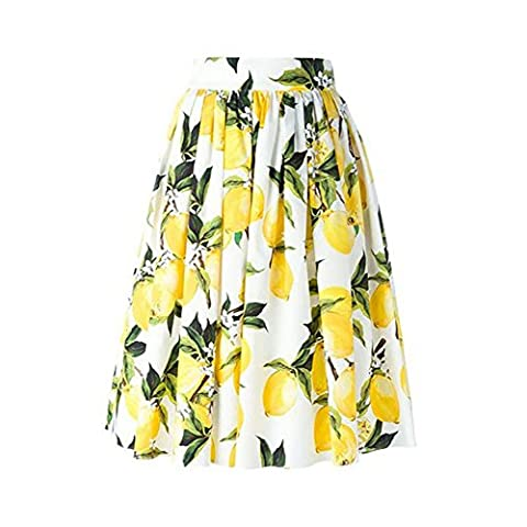 Qingsun Women's Vintage 1950s Flared Skirt Floral Full Circle Printed