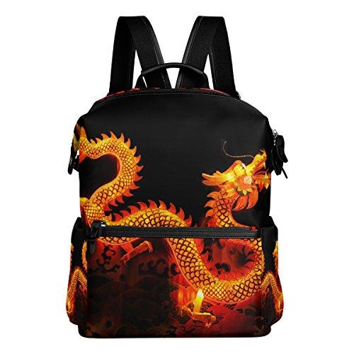 COOSUN Zaino da viaggio Drago cinese Lanterna Scuola Zaino Multi