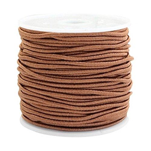 iband, Elastische Schnur Rund, 14 Meter, Perlenschnur 1,5mm, Gummischnur für Armbänder Schmuck DIY, Farbe:Braun ()