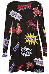 mafhh55® Women's Long Sleeve Swing Dress