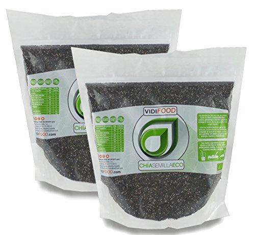 Semillas de Chía ECO Naturales - 2 x 1 kg - Certificado Ecológico -
