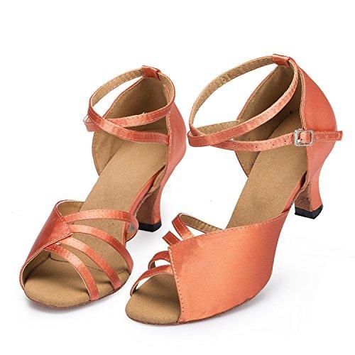 Minitoo tacco th1222.5comode matrimonio ballo Latina taogo Dance Sandals Brown