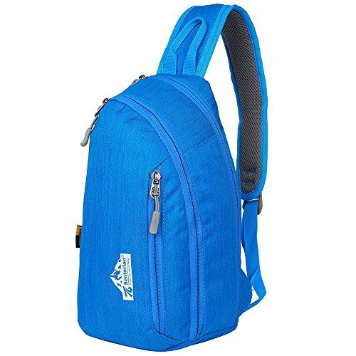 EGOGO Wasserdicht Nylon Schleuder Tasche Chest Pack Schultertasche für Sportarten Reisen Wandern W3403 Blau