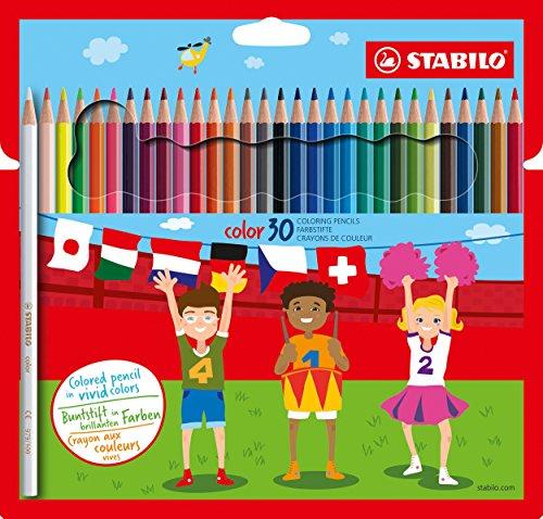 Stabilo color matite colorate colori assortiti - astuccio da 30