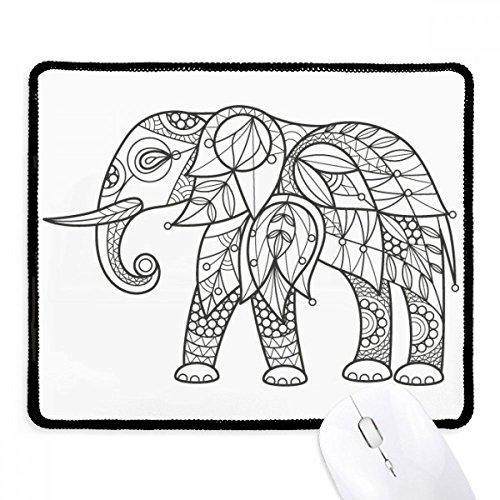 (DIYthinker Malen Elephant Freund Tooth Griffige Mousepad Spiel Büro Schwarz Titched Kanten Geschenk)