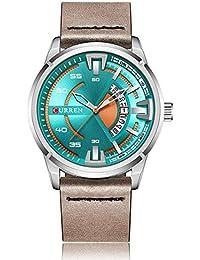 Curren Original Hombre Deporte Impermeable Fecha Correa de Cuero Reloj de Pulsera 8298
