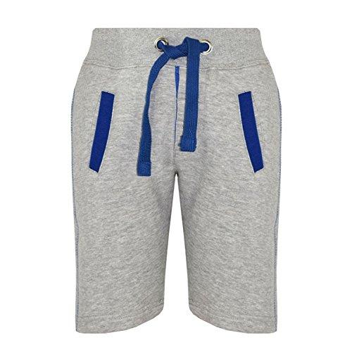 A2Z 4 Kids® Kids Shorts Girls Boys Fleece Chino Shorts - Contrast Trim Grey - 7-8 Years