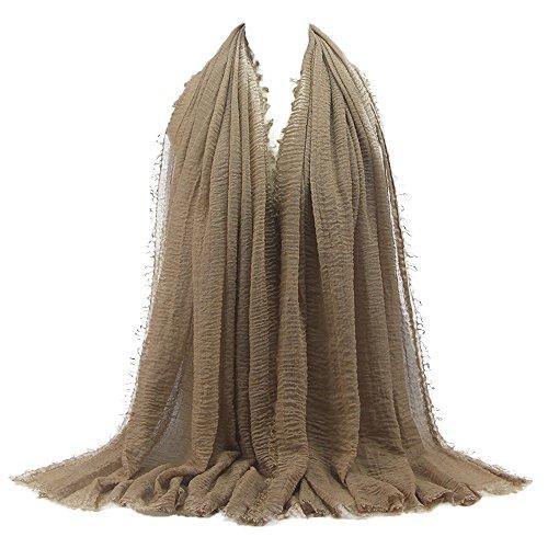Goodsatar Premium Viskose Maxi weich Crinkle Cloud Hijab Schal (G) (Diamant Fischnetz)