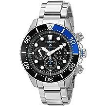 Seiko SSC017P1 - Reloj para hombre, correa de acero inoxidable color metalizado