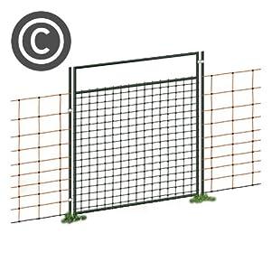 Tür für Weidezaunnetz, Netze bis 90cm Höhe, Öffnungsbreite 86cm, elekrtifizierbar von Voss bei Du und dein Garten