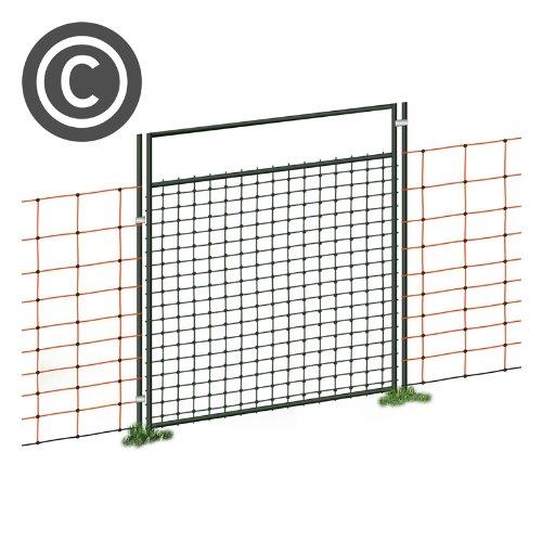 VOSS.farming Tür für Weidezaunnetz, Netze bis 90cm Höhe, Öffnungsbreite 86cm, elekrtifizierbar