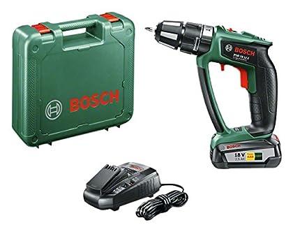 Bosch 06039B0300 Atornillador taladrador de percusión a batería de Litio, 2500 W, 18 V, Negro, Verde, Percutor