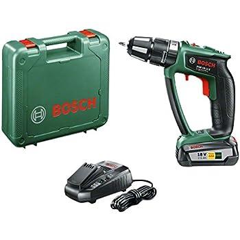 Bosch Perceuse-visseuse à percussion Expert sans fil PSB 18 LI-2 Ergonomic 1 batterie 18V 2,5 Ah, technologie Syneon 06039B0300