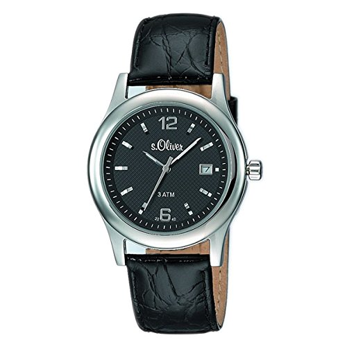 s. Oliver Hombre Reloj de pulsera analógico cuarzo piel So de 15075de LQR