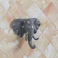 Creative Elephant Head Self Adhesive Wall Door Hook,veyikdg Bathroom Kitchen Hanging Hanger Bag Keys Sticky Holder Decorative Home Furnishing Modern Interior Live Decor Tool Hooks