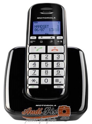 Motorola S3001B Schnurlostelefon schwarz