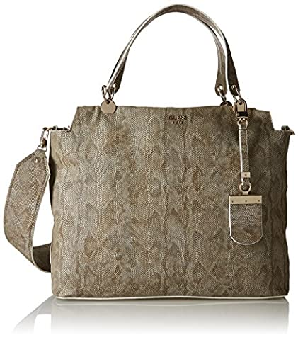 Guess Andie, Women's Top-Handle Bag, Multicolore (Python), 14x32x44 cm (W x H L)