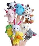 Happy Cherry - (Set de 10) Marionetas Títere de Dedos Peluche Animales Cuento de Hadas Ayudante Juguete Educativos Regalo para Niños Niñas