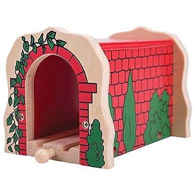 Bigjigs Rail Holztunnel für Holzeisenbahn, mit roten Ziegeln bedruckt von Bigjigs Toys