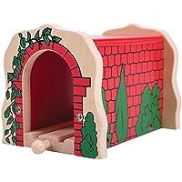 Bigjigs Túnel de ladrillo, color rojo (biBJT135)
