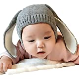 FEITONG bebé niño niños Chico Niña De punto Tejer oreja de conejo Invierno Calentar Sombrero Gorra
