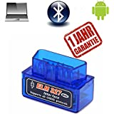 OBD2 OBD II Bluetooth Diagnosegerät Adapter Scanner ELM327 Stecker Interface Auto Car Testgerät Auslesegerät für Android Windows