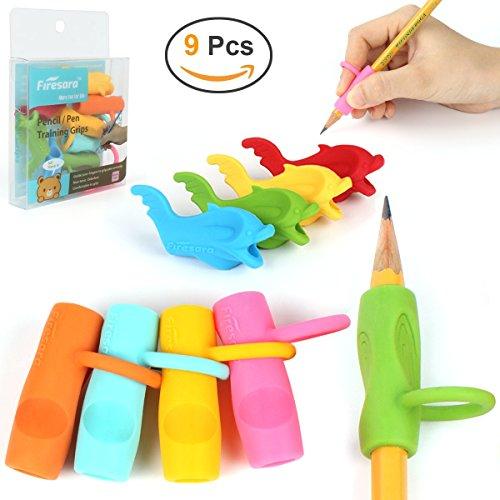 Bleistift-Griffe, Firesara Ursprüngliche ergonomische Ring-Art-Haltungs-Korrektur-Training Schreiben Cluck für Apple-Bleistift für Kinder Erwachsene Studenten Special Needs (9PCS)