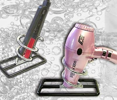Hairdryer Or Straighteners Chrome Multi-Purpose Table Top Stand produced by Hair Tools - quick delivery from UK.