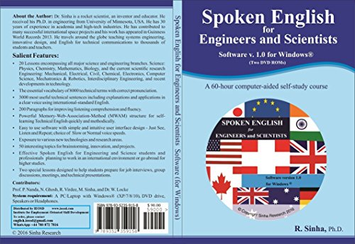 Spoken English for Engineers and Scientists Software