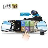spedal Spiegel Dash Cam, 1080p HD 5.0Touch Bildschirm Armaturenbrett Kamera Recorder, 360° Automatische Rotation Auto Kamera, Recorder Dash Cam mit Monitor, Loop Aufnahme, G-Sensor, Nachtsicht