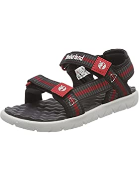 Timberland Perkins Row Webbing Dark Grey Textile Youth Strap Sandals