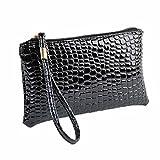 Longra Damen-Geldbörsen Krokodil PU Leder Clutch Handtasche Tasche Geldbörse portemonnaie