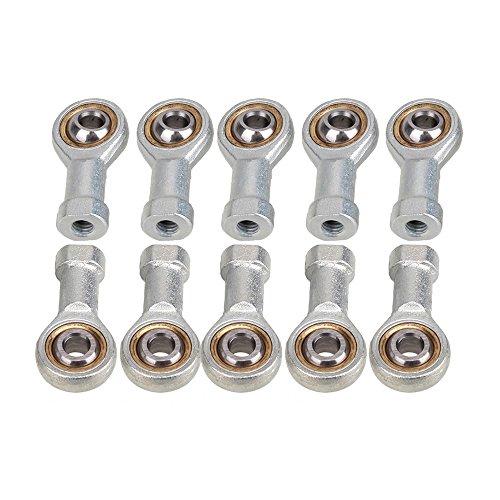 TOOGOO 10pcs Roulement de Tete a Joint Filetee Metrique en Metal 6mm Femelle de la Longueur Totale de 40mm