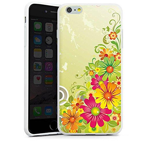 Apple iPhone X Silikon Hülle Case Schutzhülle Flowers Blumen Floral Silikon Case weiß