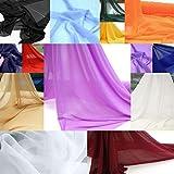 TOLKO Chiffon Dekostoff/Kleiderstoff in 14 Farben -