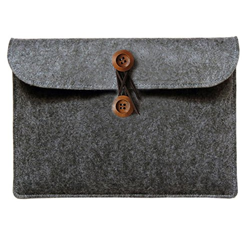 "Filztasche Laptophülle Tasche Sleeve Schutzhülle Notebooktasche Case Briefcase Carrying Bag für 11.6-17.3 Zoll Macbook 17.3"" Dunkel Grau"