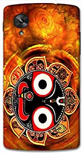 Timpax Slip-resistant, stain-resistant and tear-resistant Hard Back Case Cover Printed Design : Lord Jagannath.100% Compatible with Google Nexus-5