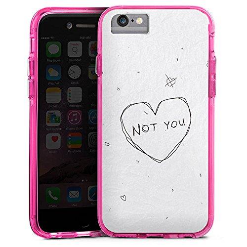 Apple iPhone 7 Plus Bumper Hülle Bumper Case Glitzer Hülle Sprüche Phrases Sayings Bumper Case transparent pink